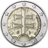 Slowakei 2 Euro 2013 Doppelkreuz