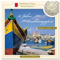 Malta 3,88 Euro 2014 bfr. KMS - Sondersatz im Folder
