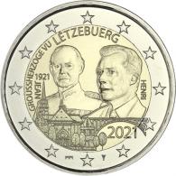 Luxemburg-2-Euro-2021-Großherzog-Jean-Reliefprägung-Mzz-I