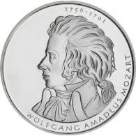 Deutschland 10 Euro 2006 stgl. Wolfgang Amadeus Mozart Silber