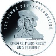 BRD 20 Euro 2016 Silber PP Deutschlandlied im original Folder