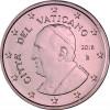 Kursmuenze Vatikan 1 Cent 2016 bfr.  Papst  Franziskus