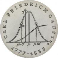 J.1563 - DDR 20 Mark 1977 - Carl Friedrich Gauss