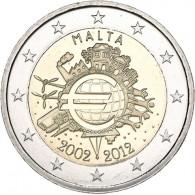 Malta 2 Euro Gedenkmünze 2012 bfr. 10 Jahre Euro- Bargeld bestellen Münzkatalog kaufen