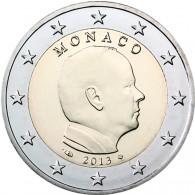 Monaco 2 Euro Münze 2013 Fürst Albert II  Brillant Stempelglanz