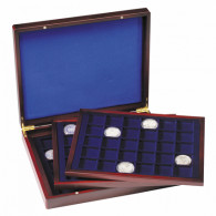 326786 -  Muenzkassette VOLTERRA TRIO de Luxe mit 90 eckigen Fächern für Münzen bis 39 mm Ø