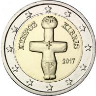 Zypern 2 Euro Münze  2017 Idol von Pomos