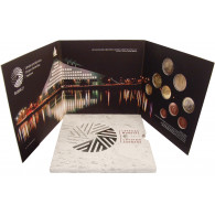 Lettland 5,88 Euro 2015 Stgl.  KMS 1 Cent bis 2 Euro mit 2 Euro EU Präsidentschaft im Folder