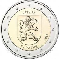 2 Euro Gedenkmünze Lettland 2017 Regionen Kurzeme Kurland