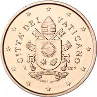Vatikan 2 Cent Papst Wappen 2017