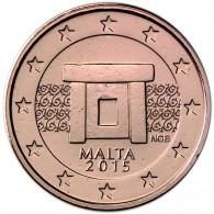 Malta 2 Cent 2015  bfr. Tempelanlage von Mnajdra