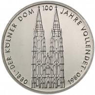 Deutschland 5 DM Gedenkmünze 1980 Stgl. Kölner Dom