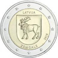 2 Euro Sondermünze Zemgale von 2018