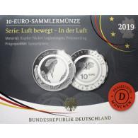 In der Luft – 10 Euro Gedenkmünze Gleitschirm 2019 1. Ausgabe Polymerring