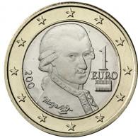 Österreich 1 Euro 2003 bfr. Wolfgang Amadeus Mozart